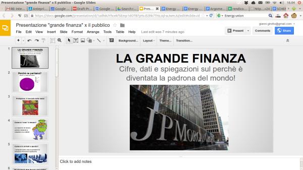 Presentazione finanza